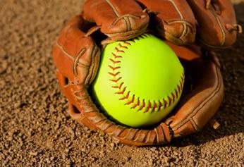 Softball and Mitt 346x238